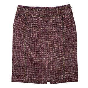 Ann Taylor Wool Blend Tweed Pencil Skirt EUC 4P